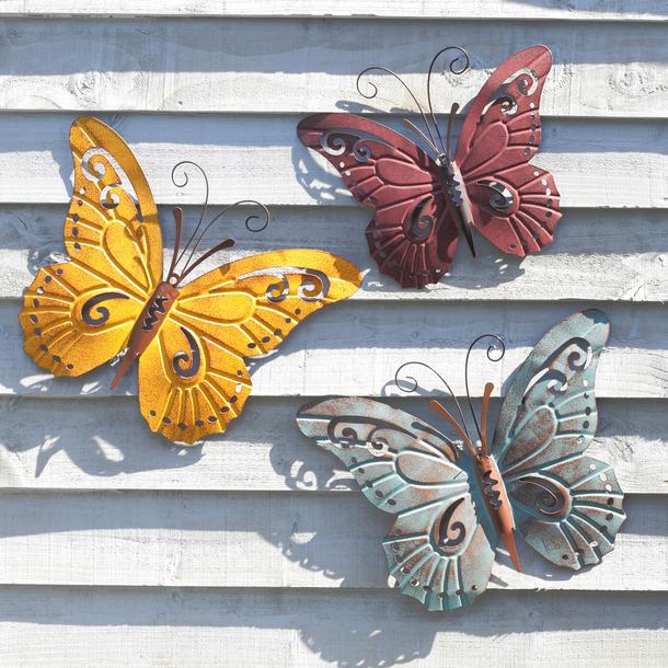 Butterfly Wall Art (Set of 3)