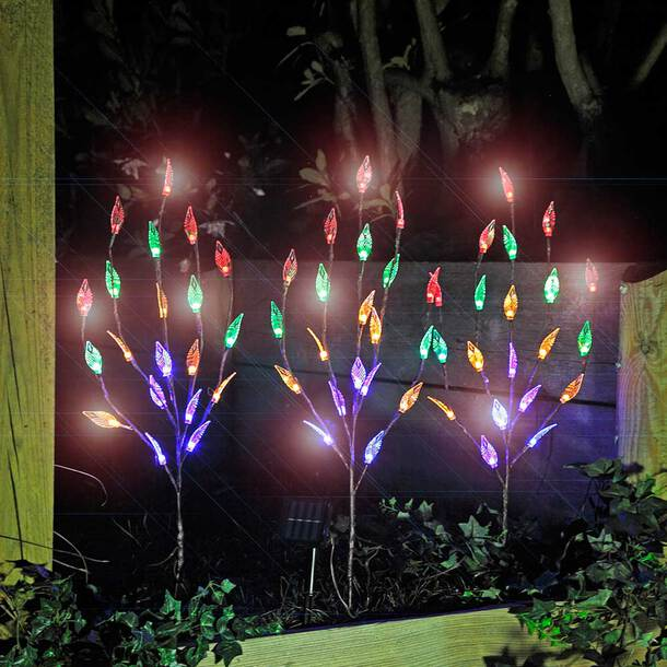 Leaf Branch Solar Garden Lights