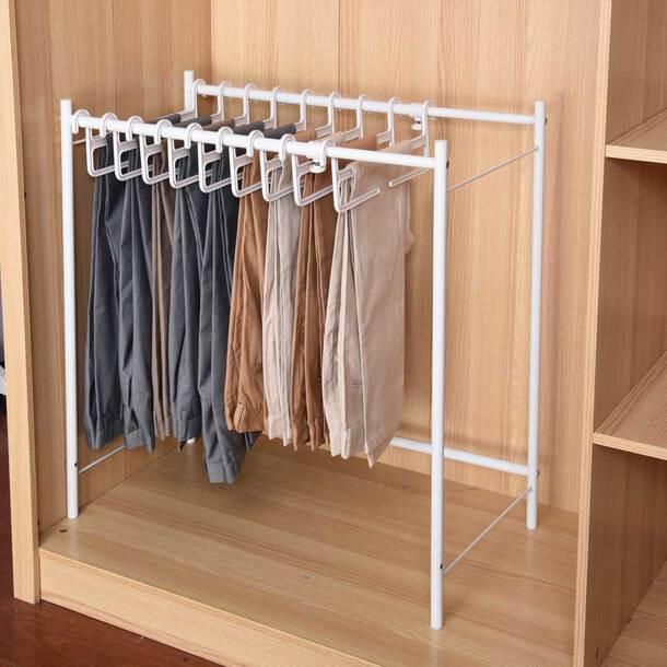 Trouser Rack + 10 Hangers