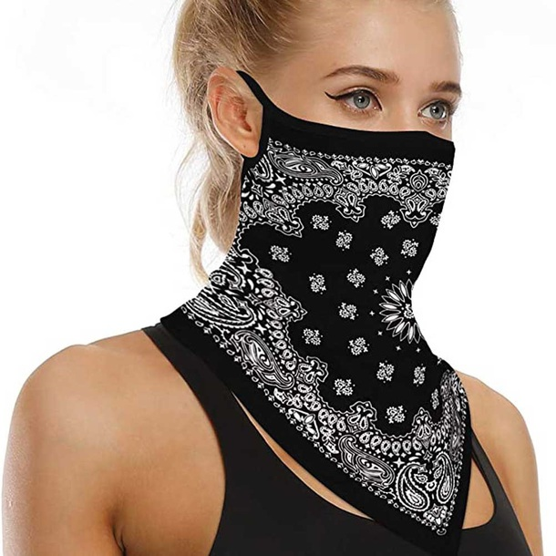 Bandana Face Mask with Earloops +1 Filter
