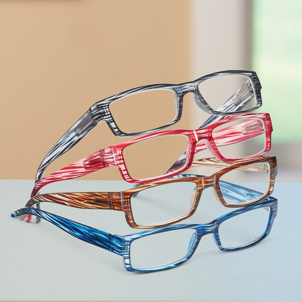 Reading Glasses + Pouch (Set of 4)