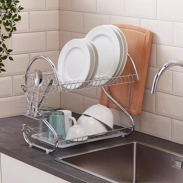 Compact 2-tier Dish Rack