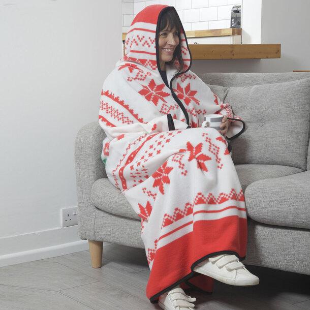 Zip-Up Polar Fleece Cosy Robe