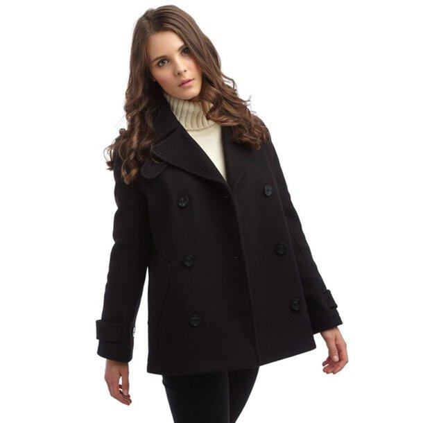 Classic Melton Pea Jacket - Ladies