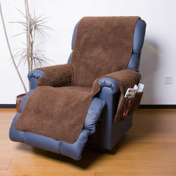 Fleece Recliner Cover With Pockets