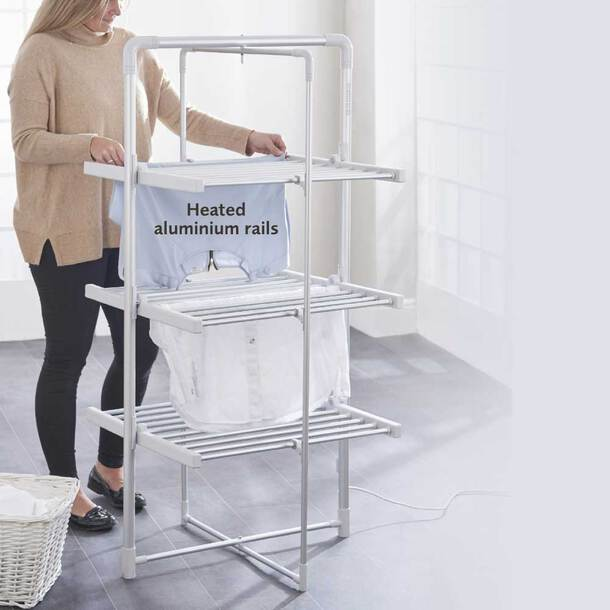 Easylife XL Heated Airer With Timer 3 Tier