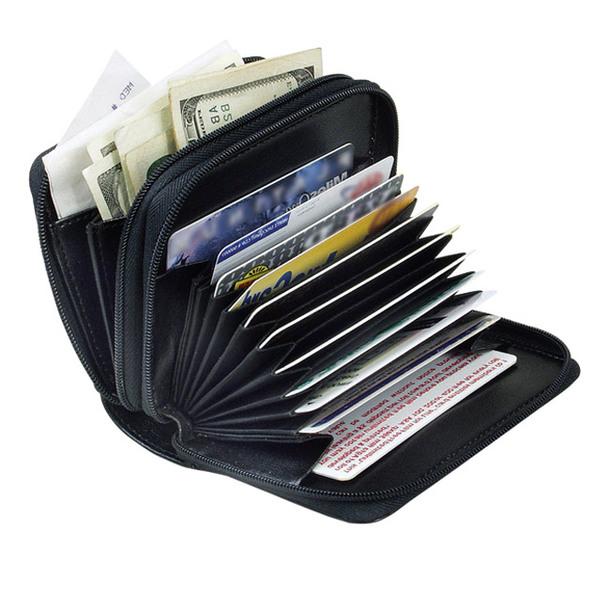 RFID Compact Wallet - Black
