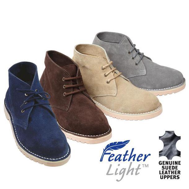 Lightweight Brushed Suede Desert Boots (Pair)