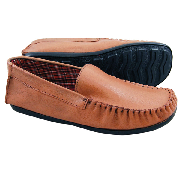 Moccasins Shoes (Pair) - Brown - Size 14