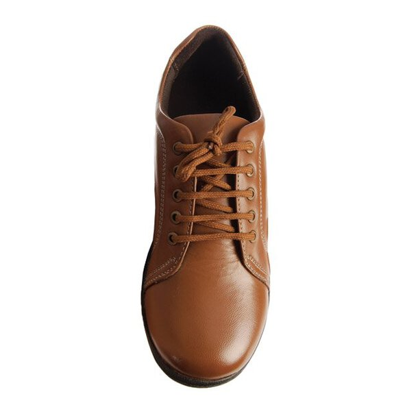 Leather Easy-Step Lace-up Shoes (Pair) - Tan - Size 5